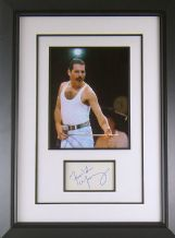 Freddie Mercury Autograph Signed Display